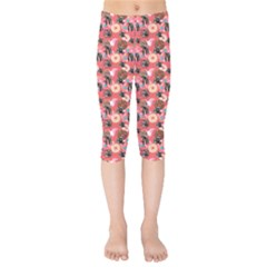 Sweet Donuts Kids  Capri Leggings  by Sparkle