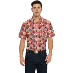 Sweet Donuts Men s Short Sleeve Pocket Shirt