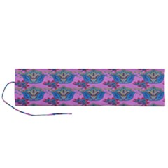 Floral Pattern Roll Up Canvas Pencil Holder (l) by Sparkle