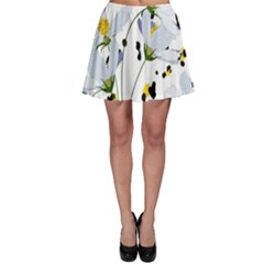 Tree Poppies  Skater Skirt
