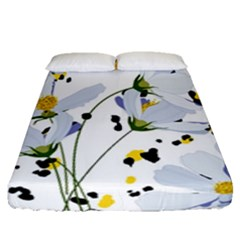 Tree Poppies  Fitted Sheet (queen Size) by Sobalvarro