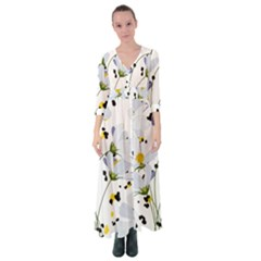 Tree Poppies  Button Up Maxi Dress by Sobalvarro