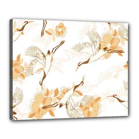 Birds And Flowers  Canvas 20  X 16  (stretched) by Sobalvarro