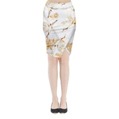Birds And Flowers  Midi Wrap Pencil Skirt by Sobalvarro