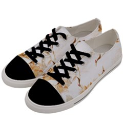 Birds And Flowers  Men s Low Top Canvas Sneakers by Sobalvarro