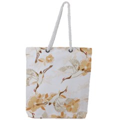 Birds And Flowers  Full Print Rope Handle Tote (large) by Sobalvarro