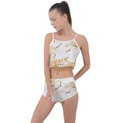 Birds And Flowers  Summer Cropped Co-ord Set