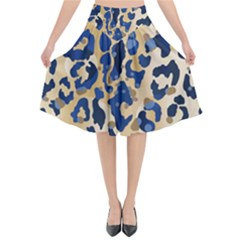 Leopard Skin  Flared Midi Skirt by Sobalvarro