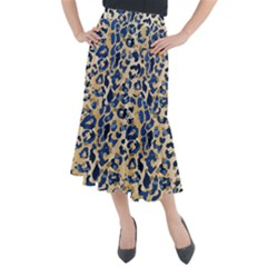 Leopard Skin  Midi Mermaid Skirt by Sobalvarro