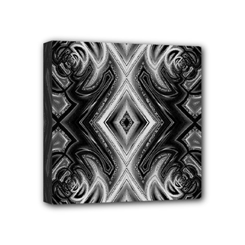 Black And White Mini Canvas 4  X 4  (stretched)