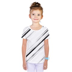 High Contrast Minimalist Black And White Modern Abstract Linear Geometric Style Design Kids  One Piece Tee
