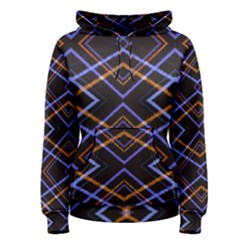 Intersecting Diamonds Motif Print Pattern Women s Pullover Hoodie