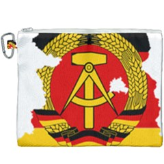 Flag Map Of East Germany (1959¨c1990) Canvas Cosmetic Bag (xxxl)