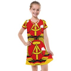 Flag Map Of East Germany (1959¨c1990) Kids  Cross Web Dress