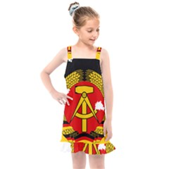 Flag Map Of East Germany (1959¨c1990) Kids  Overall Dress