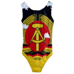 Flag Map Of East Germany (1959¨c1990) Kids  Cut-out Back One Piece Swimsuit