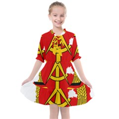 Flag Map Of East Germany (1959¨c1990) Kids  All Frills Chiffon Dress