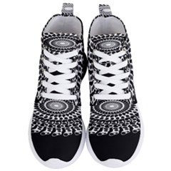 Digital Handdraw Floral Women s Lightweight High Top Sneakers by Sparkle