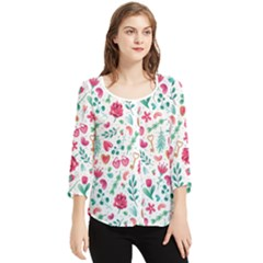 Fallen In Love Chiffon Quarter Sleeve Blouse