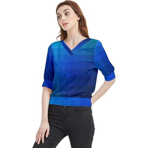 Zappwaits Water Quarter Sleeve Blouse by zappwaits