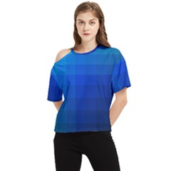 Zappwaits Water One Shoulder Cut Out Tee by zappwaits