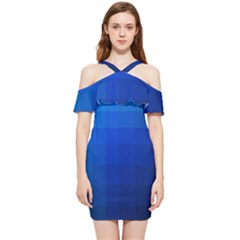 Zappwaits Water Shoulder Frill Bodycon Summer Dress by zappwaits