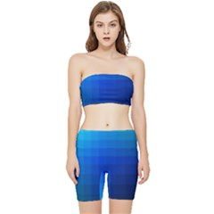 Zappwaits Water Stretch Shorts And Tube Top Set by zappwaits
