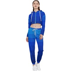 Zappwaits Water Cropped Zip Up Lounge Set by zappwaits