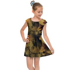 Surreal Steampunk Queen From Fonebook Kids  Cap Sleeve Dress by 2853937
