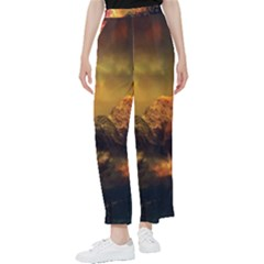 Tiger King In A Fantastic Landscape From Fonebook Women s Pants  by 2853937