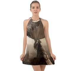 Lord Of The Dragons From Fonebook Halter Tie Back Chiffon Dress by 2853937