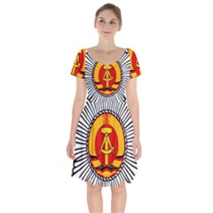Volkspolizei Emblem Short Sleeve Bardot Dress