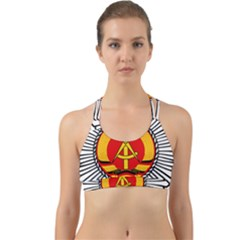 Volkspolizei Badge Back Web Sports Bra