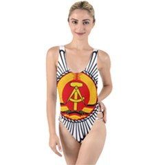 Volkspolizei Emblem High Leg Strappy Swimsuit