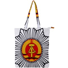 Volkspolizei Emblem Double Zip Up Tote Bag