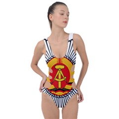 Volkspolizei Badge Side Cut Out Swimsuit