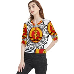 Volkspolizei Emblem Quarter Sleeve Blouse