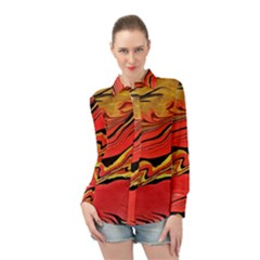 Warrior s Spirit Long Sleeve Chiffon Shirt