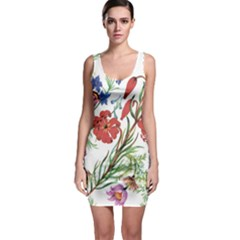 Summer Flowers Bodycon Dress by goljakoff