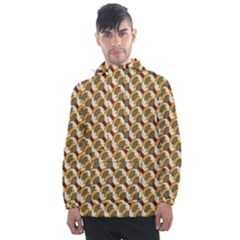 Abstract Illusion Men s Front Pocket Pullover Windbreaker