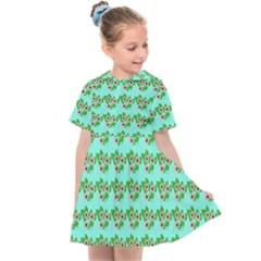 Flowers Pattern Kids  Sailor Dress by Sparkle