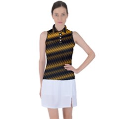 Ornament Stucco Women s Sleeveless Polo Tee by Dutashop