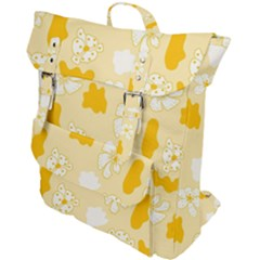 Abstract Daisy Buckle Up Backpack by Eskimos