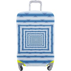 Metallic Blue Shiny Reflective Luggage Cover (large)