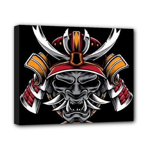 Samurai Oni Mask Canvas 10  X 8  (stretched)