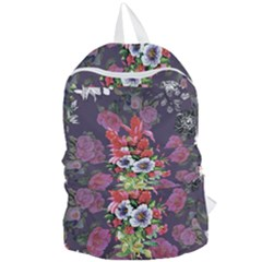Purple Flowers Foldable Lightweight Backpack by goljakoff