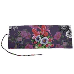 Purple Flowers Roll Up Canvas Pencil Holder (s)