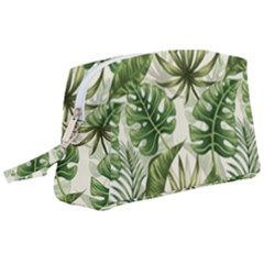 Tropical Leaves Wristlet Pouch Bag (large)