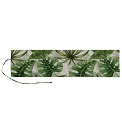 Tropical Leaves Roll Up Canvas Pencil Holder (l)
