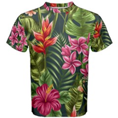 Tropic Flowers Men s Cotton Tee